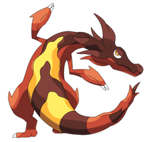 Ophisear, Molten Fakemon by Smiley-Fakemon