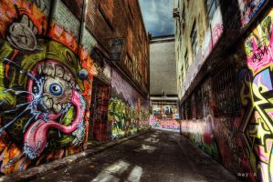 HDR - Graffiti Attack 04 by mayonzz