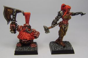 MORDHEIM Trollslayer and Swordsmith by FraterSINISTER