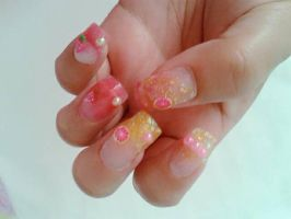 fruits nails by Conejita-Ginny