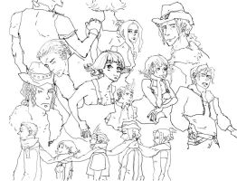 FF8 group sketch by ValyChan