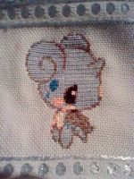 Chibi Lapras cross stitch by Anim-Soul