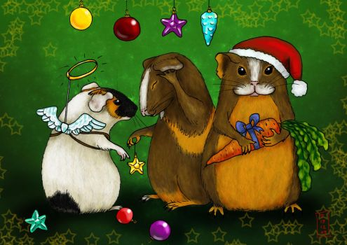 X-mas Piggies by Siobhan68