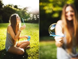 Lindsay And Bubbles by MikeMonaghanPhoto