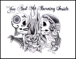 you and me burning inside by asesinocereal