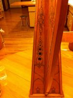 Celtic Harp Pyrography 1 by fanfreluche3567