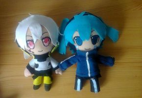 Konoha et Ene Plushes - Kagerou project by Pikanessy