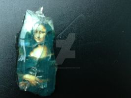 Mona Lisa Pendant - Safety Glass by LadySiubhan
