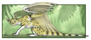 Draconic Leptailurus in Color by mirroreyesserval