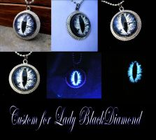 Custom Pendant for Lady Black Diamond - Glow Night by LadyPirotessa