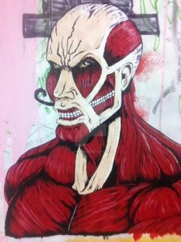 Colossal Titan (painted) by Vampirestear