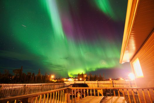 Northern Lights over La Ronge, August 2015 by DioneRoberts