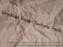 Wrinkled Paper Texture Pack by texture-resources