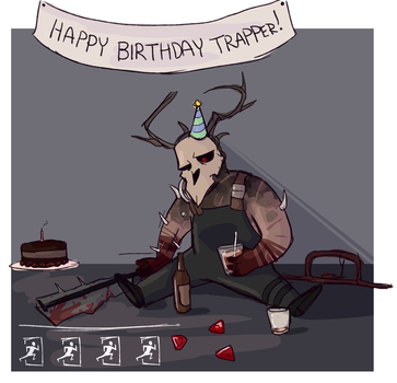 dead by daylight's anniversary by xenokitty