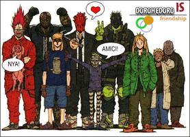 Dorohedoro friendship by Neverending-smile