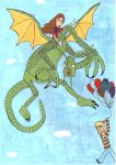 The Jabberwocky and I by Digi-Shaman-of-Fire