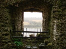 Through a Castle Window by MCEly