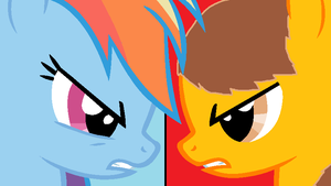 Rainbow Dash vs Anthony by blackevil915