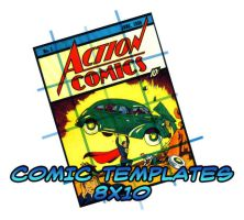 Comic Templates - 8x10 by caleighblankenship