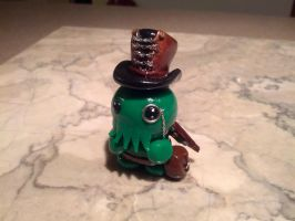 Little Fat Steampunk Cthulhu with Corset Hat by LittleFatDragons