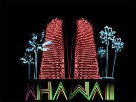 hawaii neon lights by dongin