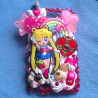 Sailor Moon and Heart Locket Phone Case by TiffyyyCuppyCake