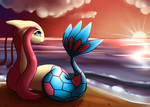 Milotic by the sea by Mimkage