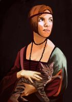 Lady with a kitty, selfportrait by GeneticMistake