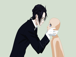 Black Butler-Claude and Oc Base by TFAfangirl14