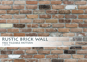 Rustic Brick Wall Pattern by byAllex