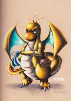 Dragonite and Dratini by ekronic