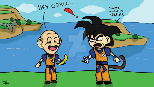 Krillin brings lunch. by DHouse1985