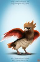 pokemon project 021 Spearow byLo0bo0