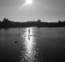 paddle boarder by MogieG123