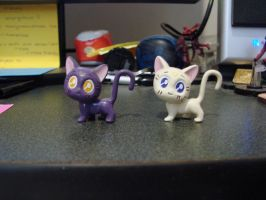 Luna and Artemis figures by RosalineStock