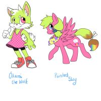 Sonic and MLP OC by St3ffimon