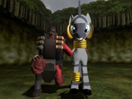 Demoman and Zecora by ErichGrooms3