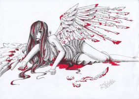 Fallen Angel by Kermesina