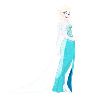 Elsa the Snow Queen by Sakura-Rose12