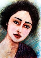 Golshifteh Farahani Sketch3  by amoxes