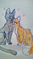 Crowfeather and Leafpool by Lightingfall