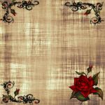 Decrotive rose parchment by AngelMoon17