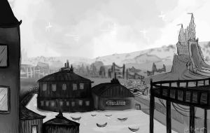 Passing by a broken town by asheiya