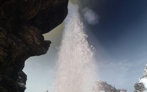 Waterfall at Broken Helm Hollow by Euther