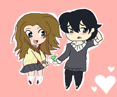 Chibi couple: Kat X Kenny by cottoncloudyfilly