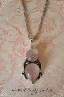HANDMADE - Rose Quartz Pendent by IWantCandyCreation
