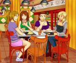 Pizza restaurant with friends - COM - by Timagirl