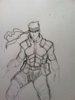 Solid Snake W.I.P by THEkidNurCLOSET