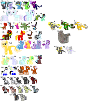 Huge Unsold Pony Sheet [OPEN] [PRICE LOWERED] by CuppieCakeAdopts