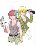 Girls with Guns - RD and AJ (Comission) by Jujubesca